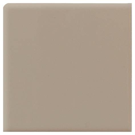 daltile semi gloss uptown taupe 4 1 4 in x 4 1 4 in ceramic bullnose corner wall tile