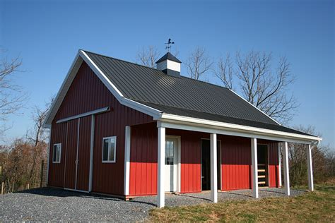 Pole Barn Homes Floor Plans by Middletown Md Pole Barn With Porch Customer Projects