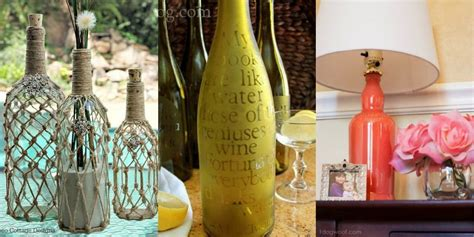 glass bottle craft as a home decor crafts and arts ideas 9 diy crafts you can make using empty spirit bottles