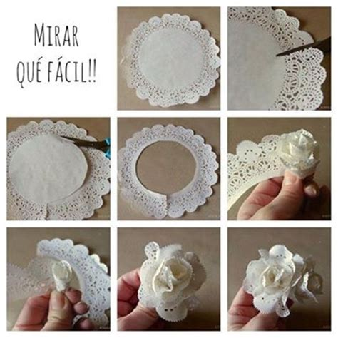 How To Make Paper Lace Doilies - 17 best ideas about paper doily crafts on