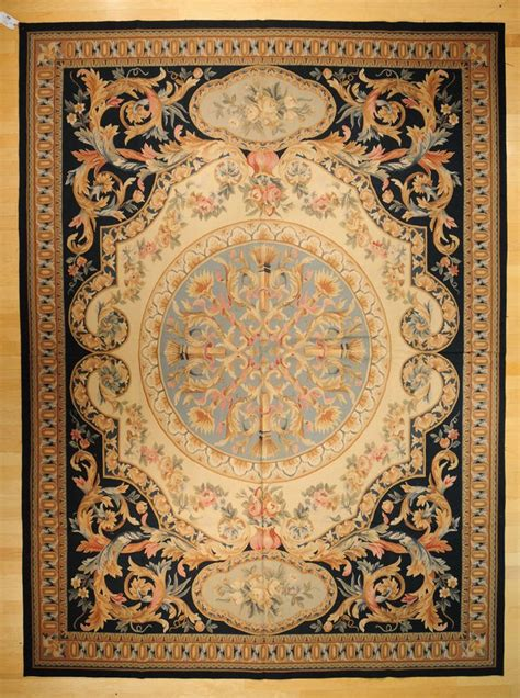 french accent rugs 9 x12 hand woven wool french aubusson flat weave area rug