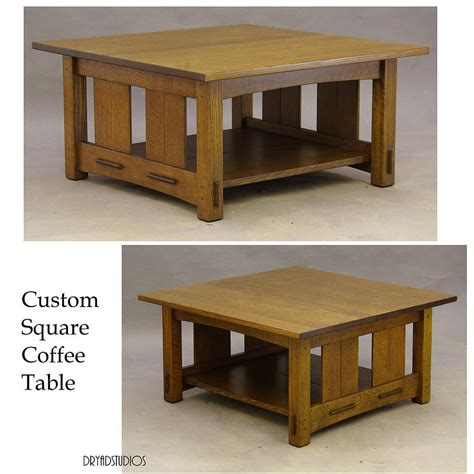 40 inch square coffee table craftsman square coffee table sculpture by dryad studios