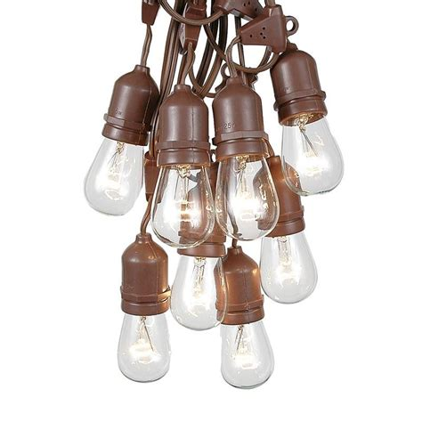 50 clear s14 suspended heavy duty string light sets on