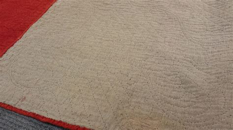 red quilted coverlet red linsey woolsey quilted coverlet sale number 2858t
