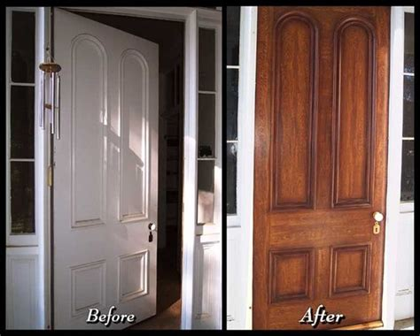 Faux Wood Interior Doors Faux Wood Grain Front Door Maybe I Should Does This To The Front Door Outdoors
