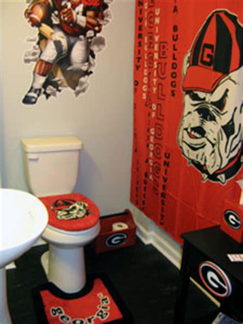 uga bathroom decor southern waterbeds and futons gt gt georgia home decor bath