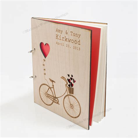 Wedding Shower Gift Book by Items Similar To Bike Wedding Guest Book Or Bridal