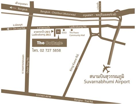 the cottage suvarnabhumi hotel contact the cottage suvarnabhumi hotel address contact