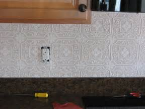 Faux Tin Kitchen Backsplash this is raised paintable wallpaper with a punched tin pattern there