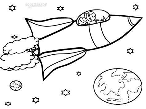 coloring page rocket ship space coloring pages cool2bkids