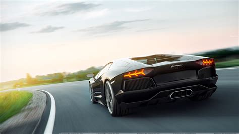 lamborghini back view black lamborghini aventador back look wallpaper