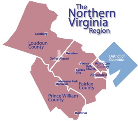 northern virginia map beware stalling growth in northern virginia bacon s