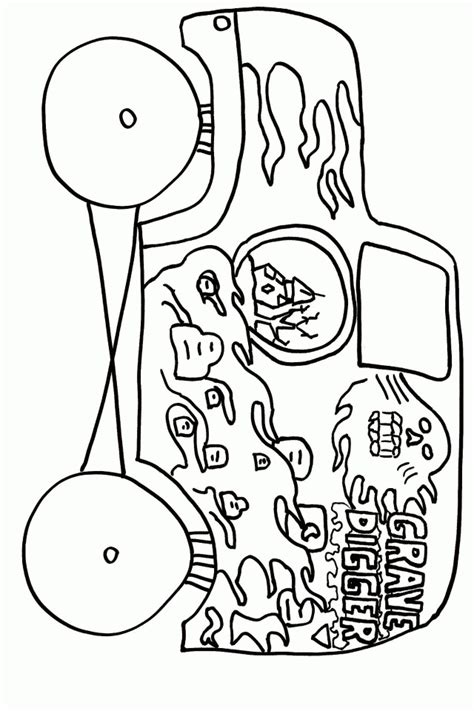 Monster Jam Coloring Page Coloring Home Jam Coloring Pages Printables