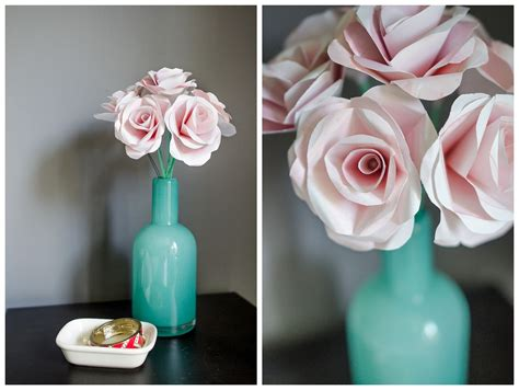 Paper Roses Tutorial - diy tutorial how to make a water color paper