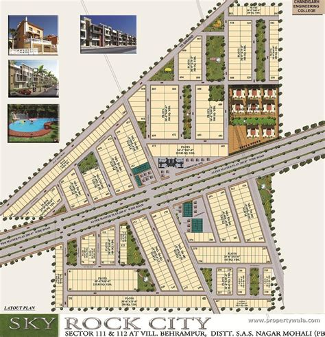 layout plan of chandigarh sectors sky rock city sector 112 mohali residential plot