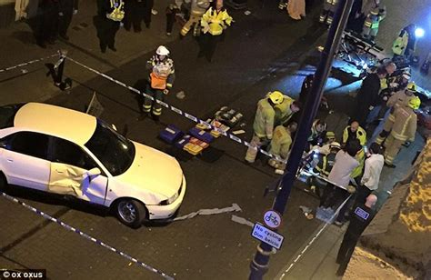 car crash south wales porthcawl crash sees car smash into streets nightclub in south wales daily mail