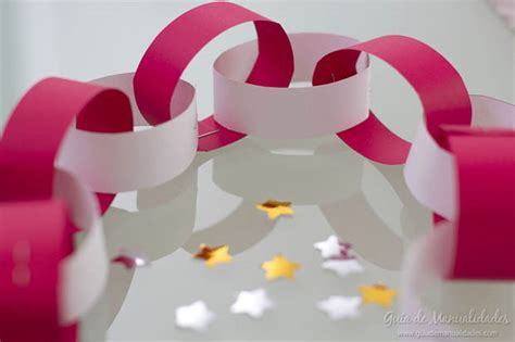 como hacer cadenas de corazones con papel crepe guirnaldas f 225 ciles de papel para decorar en minutos gu 237 a