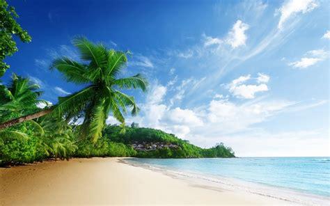 nature world best sea beach wallpaper paisaje de la naturaleza mar playa cielo nubes palmeras