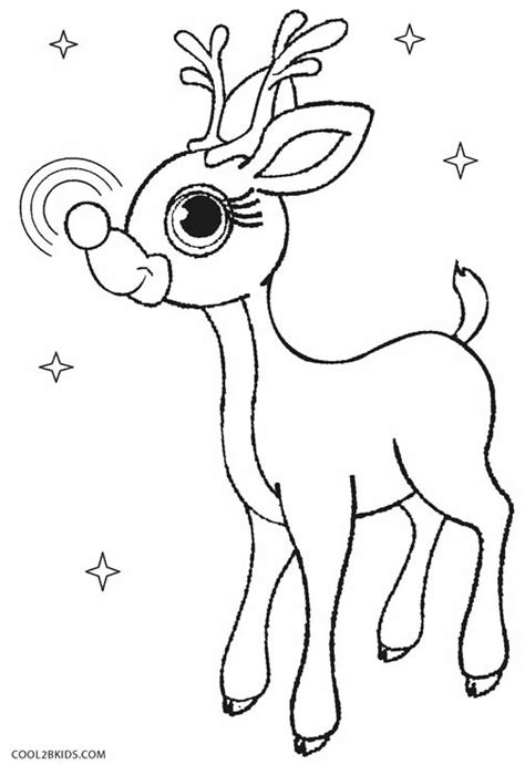 rudolph the red nosed reindeer coloring pages with regard