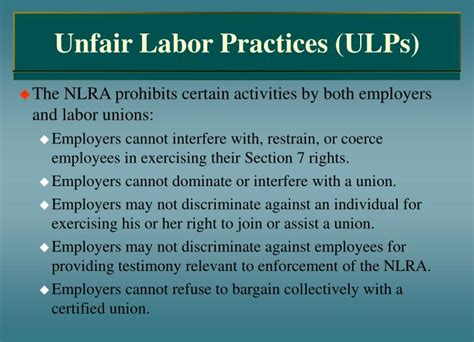 Nlra Section 7 Rights by Ppt Collective Bargaining And Labor Relations Powerpoint