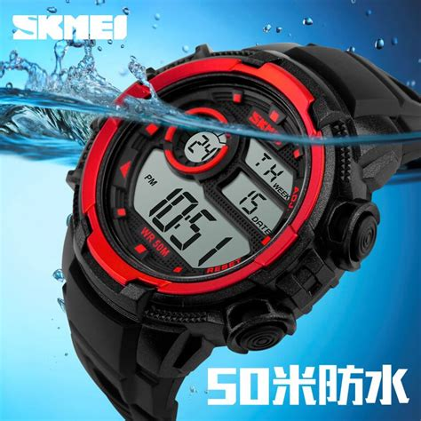 Promo Jam Tangan Skmei Sporty Led Pria Anti Air Murah skmei jam tangan sporty digital pria dg1113 black