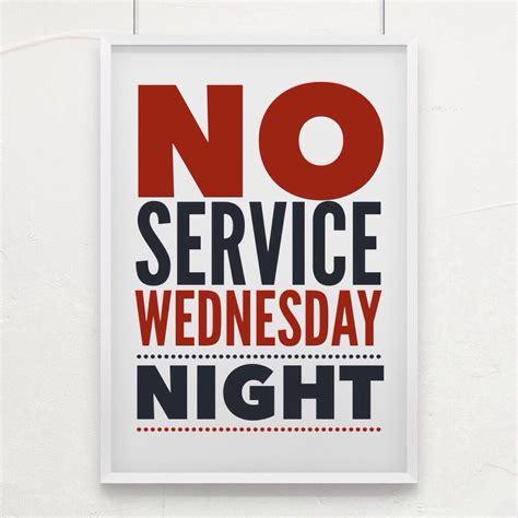 wednesday night church service
