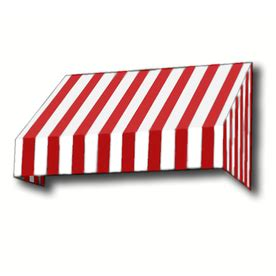 red and white striped awning shop awntech 604 5 in wide x 48 in projection red white stripe slope window door