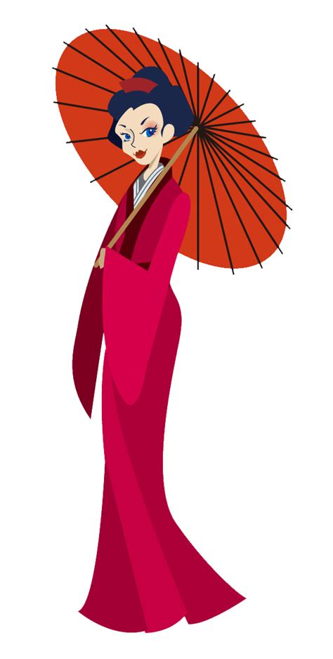 Geisha Clipart Traditional Costume Clipart Japanese Pencil And In Color