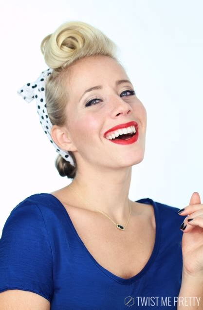 Pin Up Hairstyle Tutorial by 1940 S Pin Up Hairstyle Tutorial Twist Me Pretty