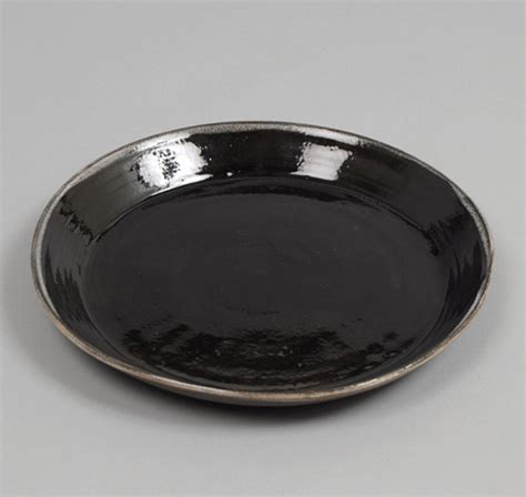 Black Ceramic L by Plate Brown Clay With Black Slip Hickoree S