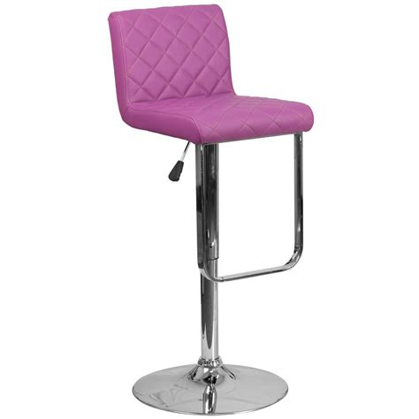cushioned bar stool flash furniture adjustable height purple cushioned bar