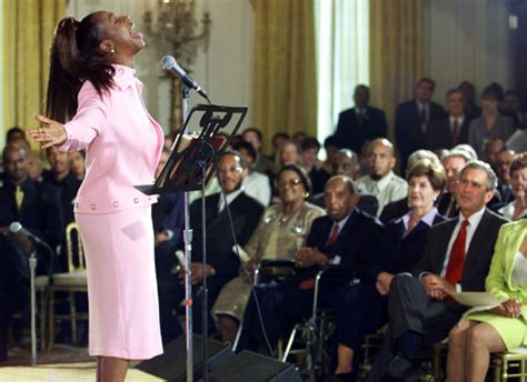 music in the house regina regina belle performs for president george w bush and first lady laura bush during a