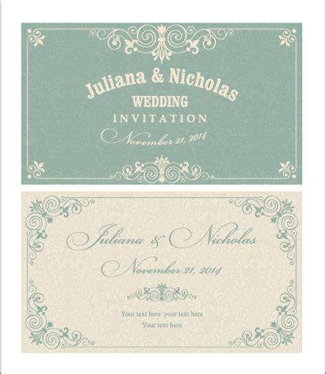 invitation card design vector free download decorative pattern wedding invitation cards vector set 02