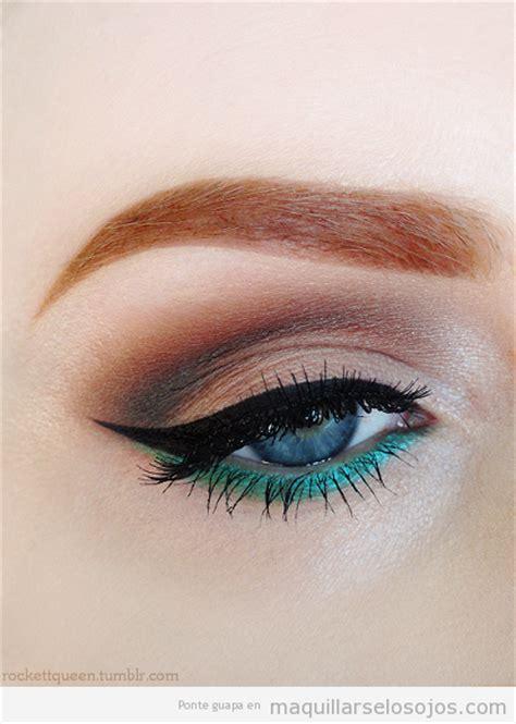 imagenes ojos verdes maquillados maquillaje de ojos azules colores que intensifican el