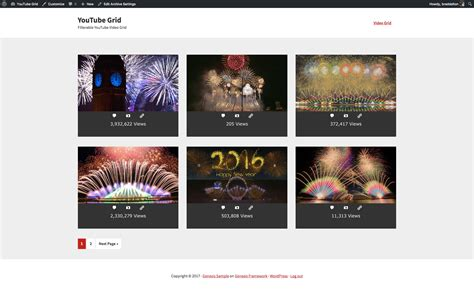 youtube layout grid filterable youtube video grid for genesis