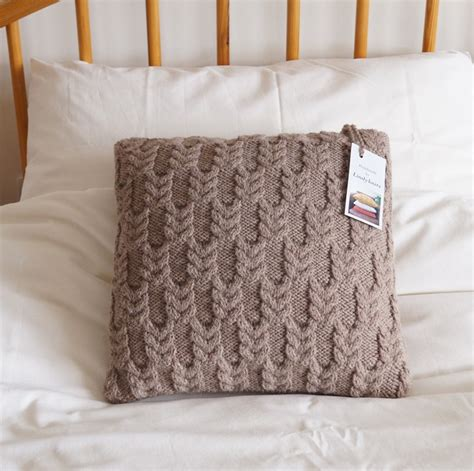 Knitting Pillow Patterns - knitted pillow cover knitted cushion cover beige pillow