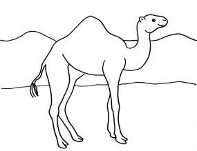 camel coloring page bell