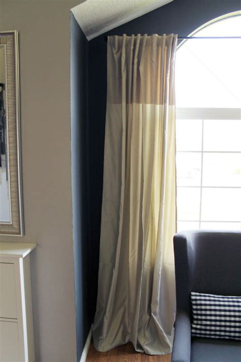 Cheap Draperies Where To Put Curtains On A Window That Has An Arch Chris