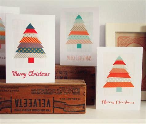 Weihnachtskarten Zum Selbermachen by Weihnachtskarte Selber Machen Mit Washi Karten