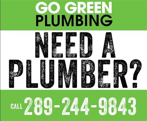 Ja Green Plumbing by Go Green Plumbing Ltd Horaire D Ouverture St