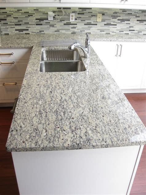Bathroom Countertop Decorating Ideas santa cecilia light granite