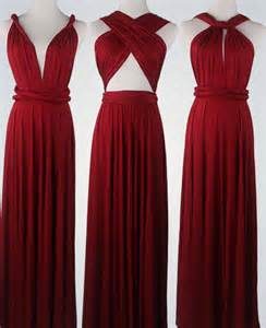 Infinity Convertible Dress Wine Bridesmaid Dress Infinity Dress Convertible Dress