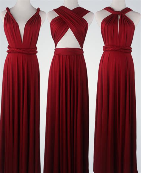 maxi infinity dress wine bridesmaid dress infinity dress convertible dress
