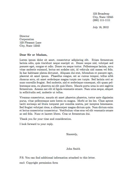 professional business letter template professional letter format 2015 formal letter