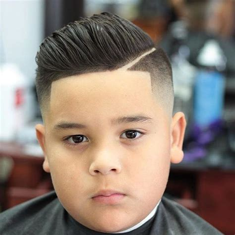 toddler boy faded curly hairsstyle boy faded pompadour with line up haircuts for toddler boy