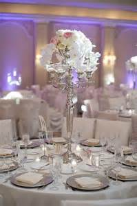 silver table centerpieces wedding at the houstonian with photos by adam