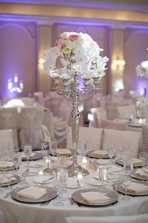 Silver Table Decorations by Wedding At The Houstonian With Photos By Adam