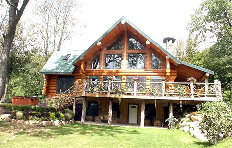log cabin with walkout basement a frame best house plans