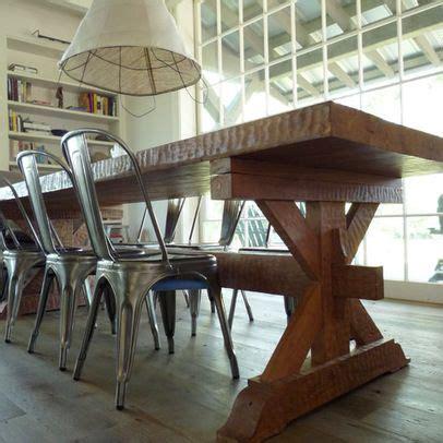 farmhouse table metal chairs home ideas