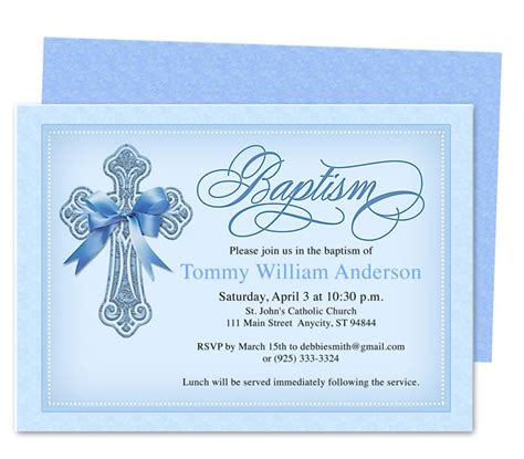 printable diy baby baptism christening invitation